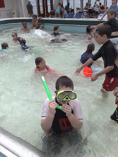 Snorkelling in the pool